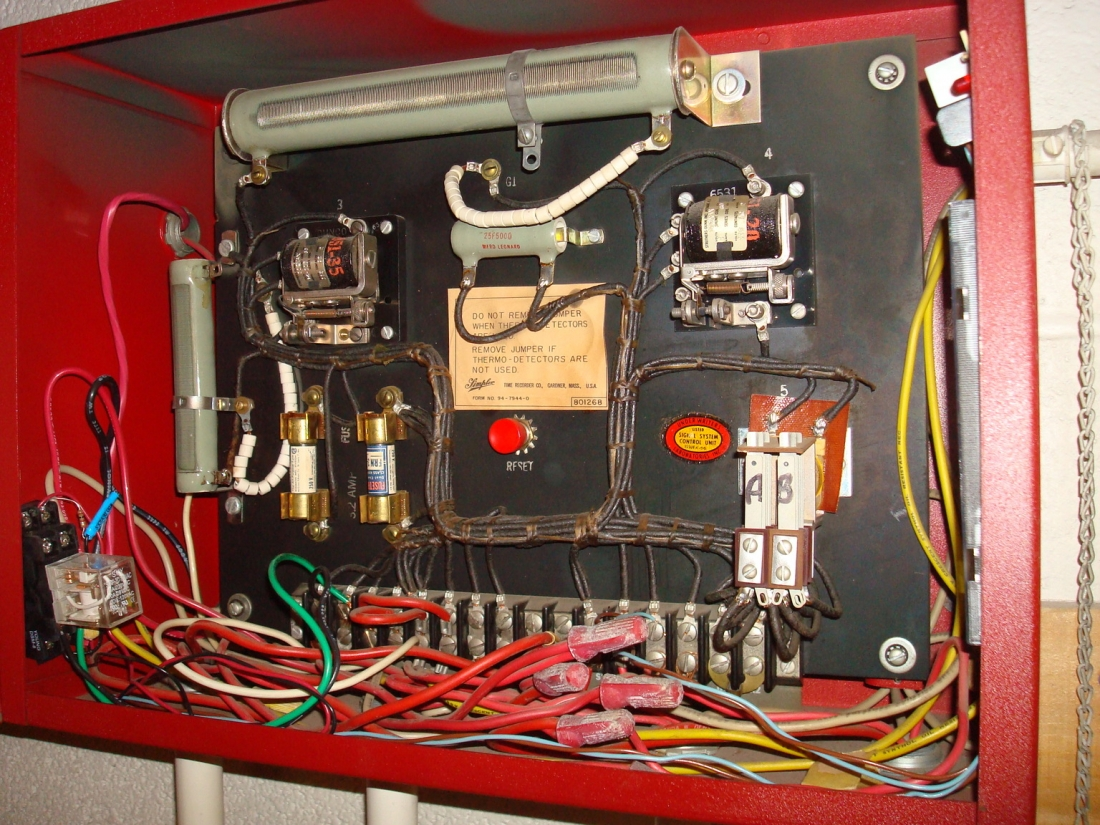 Old School Fire Alarms Alarm Control Panels Circuit Diagram As Well Circuits Simple Also Schematic A Panel Facp Is Absolutely Essential To Any System Just The Brain Controls Body