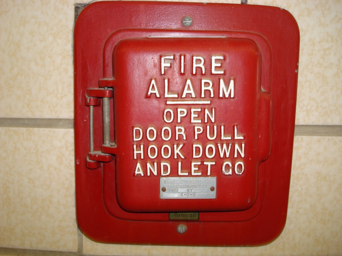 Old School Fire Alarms Pull Stations Gamewell Alarm Wiring Diagram One Of The First To Be Devised Was Rod Ring Manual Trip Bells Signal For A Or Drill Had Literally
